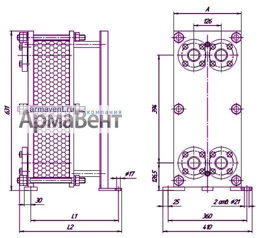 Общий вид чертеж радиатора теплообменника теплообменник веза внв 243 в санкт-петербурге