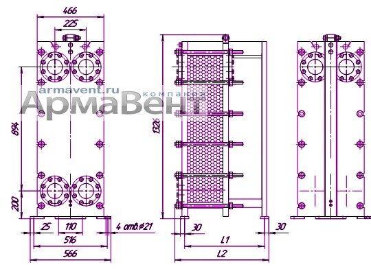 Пластины теплообменника Danfoss XGF100-034H Салават
