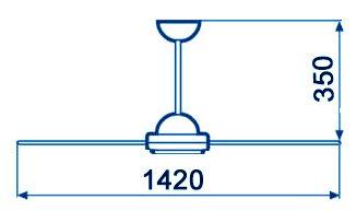 Габаритные размеры вентиляторов типа МР-1 - Компания АрмаВент