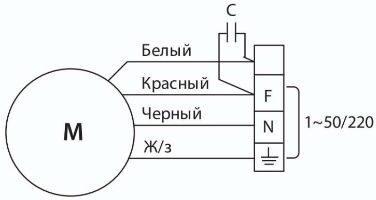 Схема подключения вентиляторов ВКК
